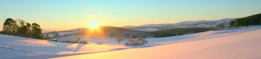 banner winter snow sky view